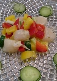 ホタテとセロリとパプリカの柚子胡椒マリネ