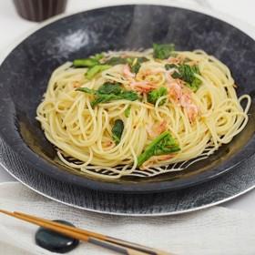 桜えびと菜の花のスパゲティ