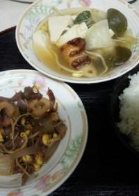 血管ダイエット食636(牛皿・牡蠣鍋)