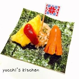 子どもが喜ぶ①♡お子様ランチな手巻き寿司