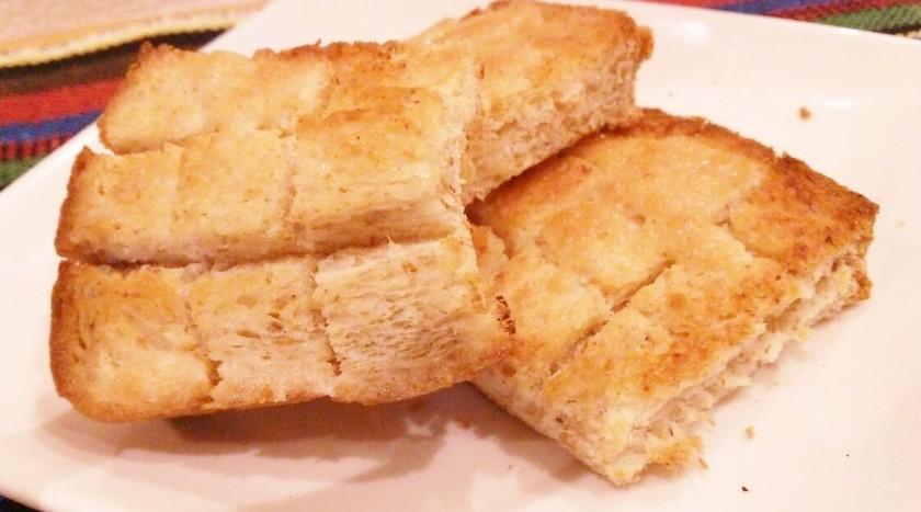 メロンパンのサクサクを食パンでアレンジ