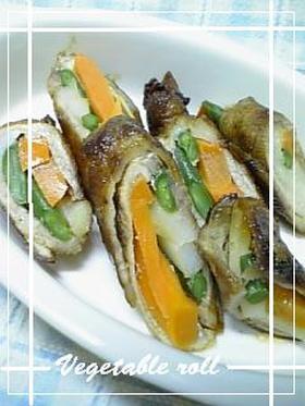 ☆簡単☆彩り野菜ロール