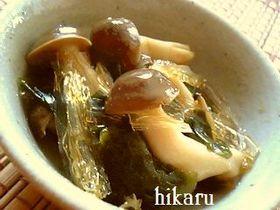糸寒天の酢の物~柚子胡椒風味~