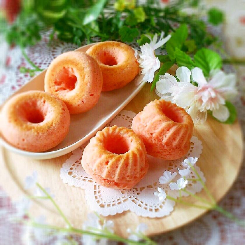 桜香る♡桜あんのふんわり焼きドーナツ