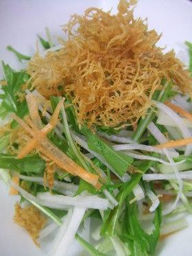 千切り野菜とカリカリのサラダ