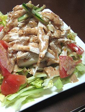 ヘルシー!バンバンジー風豆腐サラダ
