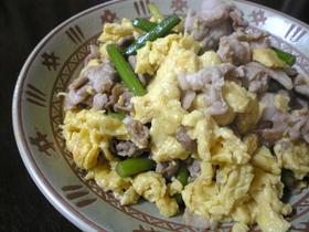 中国家庭料理!にんにくの芽の卵炒め