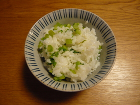 大根の葉で菜飯