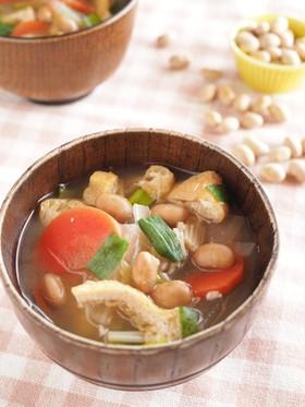 節分豆の具だくさんみそ汁☆残った豆の活用