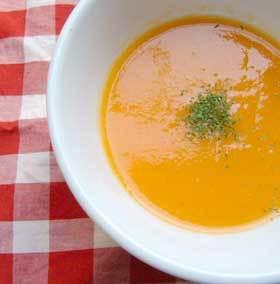 春の味にんじんのあっさりポタージュスープ