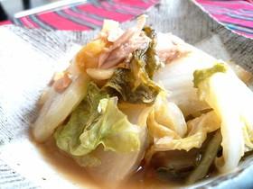 簡単節約副菜♪白菜とツナのあったか蒸し煮