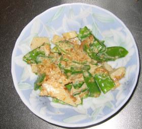 筍とスナップえんどうのゴマサラダ