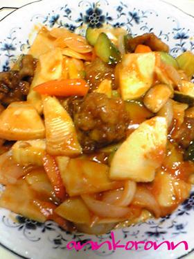 簡単おいしい『薄切り肉で作る酢豚』