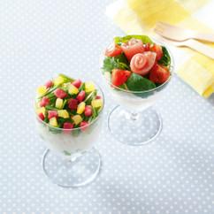 枝豆と漬けもののカップずし(写真左)
