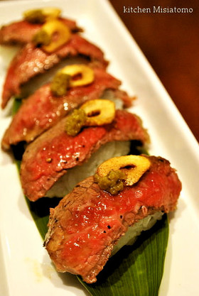 炙り風♪ステーキ握り寿司