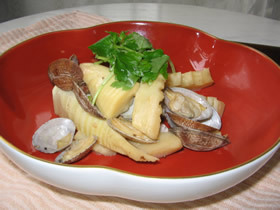 筍とあさりの醤油バター