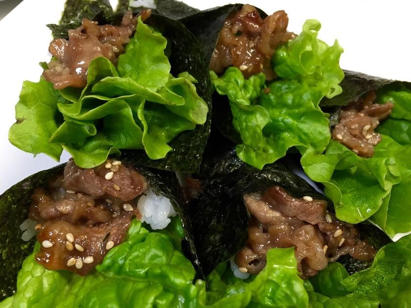 簡単‼焼き肉手巻き寿司
