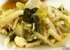 青菜とたけのこの炒め物