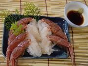 贅沢!活毛かに(生きた蟹)刺身の造り方!の写真