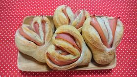 天然酵母でハートパン!
