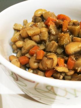 出汁昆布も食べよう!大豆水煮で簡単煮豆