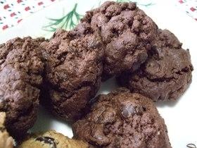 チョコレートチョコレートチップクッキー