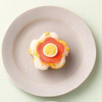 炒り玉子&うずらの卵の押しずし