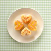 明太子&チーズの押しずし(写真上下)