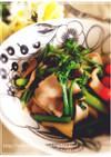 新野菜アスパラ菜とエリンギのオリーブ炒め
