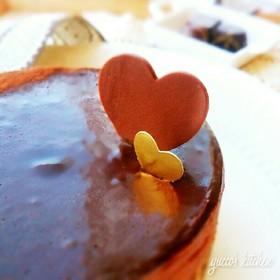 バレンタイン✾簡単チョコムースのケーキ