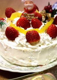 クリスマスのデコレーションケーキ