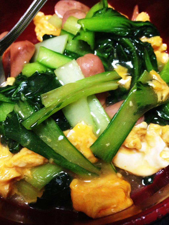 ターサイと卵の簡単すぎる中華あんかけ♡