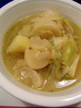 とろ〜っとあまい 洋ネギとカブのスープ