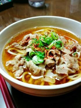 豚バラ\u0026麺つゆで美味し~い♡肉うどん♡