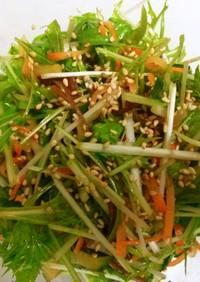 水菜★ニンジン★胡瓜★木耳の中華風サラダ