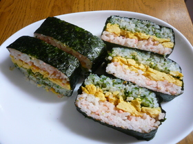 カラフル♡ご飯サンド