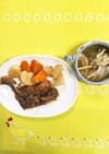 骨付きもも肉煮&野菜&スープ♡圧力鍋簡単