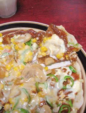 フライパンで残ったカレーをピザ!
