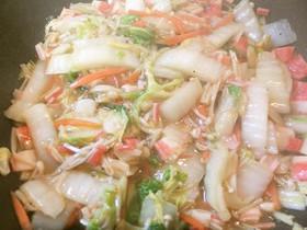 白菜とカニカマの中華風炒め物