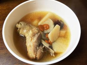 山芋とにわとりの養生スープ ☆山藥雞湯☆