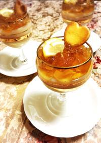 十六茶ミルクプリン&十六茶レモンゼリー♡