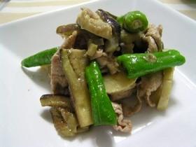 豚肉と野菜のグリーンカレー炒め