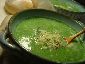 じゃがいもとほうれん草のポタージュスープ