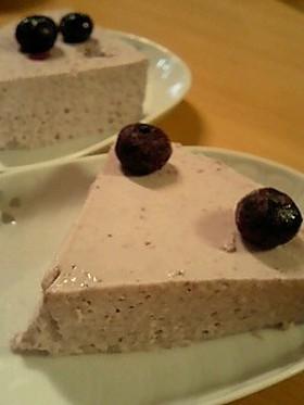 レアチーズケーキ☆ブルーベリー味だよ