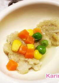 離乳食:れんこんと豆腐の野菜あんかけ