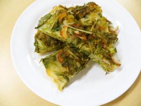 京みず菜と九条ねぎのチヂミ