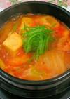 旨辛!簡単材料の豆腐チゲ(*^O^*)