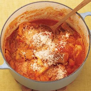 豚とキャベツのトマト煮