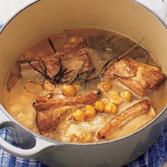 スペアリブとひよこ豆のワイン煮