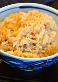 蟹の炊き込みご飯 蟹とゆずポン酢だけ!